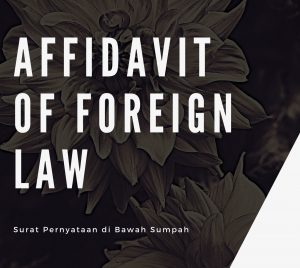 Affidavit of Foreign Law